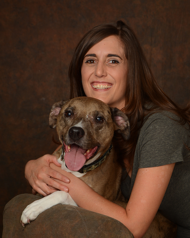 Woman-and-her-happy-dog-portrait