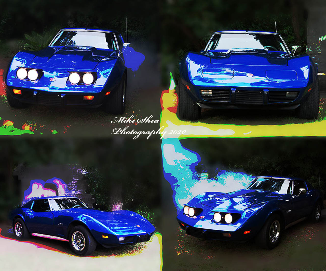 showing the strength and spirit of a blue Corvette named Blue